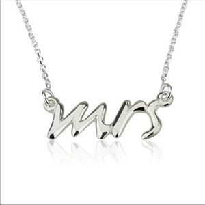 "Jewelry - ""Mrs"" wedding chain Necklace ***CLOSEOUT SALE***"
